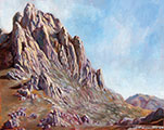 Tulove grede, Velebit mountain, oil, 16x20 (40x50 cm)