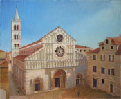 Zadar's Cathedral of Anastasia, oil, 36x28 (90x70 cm)
